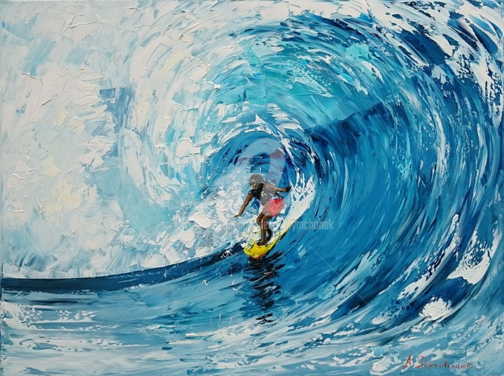 The Big Wave Painting By Alena Shymchonak Artmajeur
