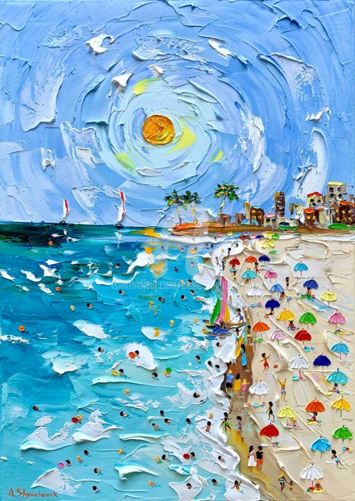 """Painting titled """"Meeting with summer…"""" by Alena Shymchonak, Original Art, Oil"""