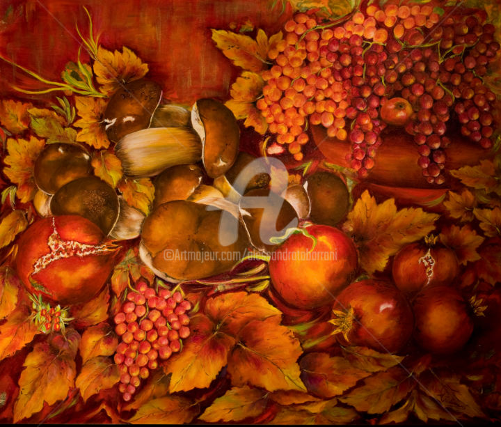 Ricordo d'autunno - Painting,  80x70 cm ©2013 by Alessandra Tabarrani -