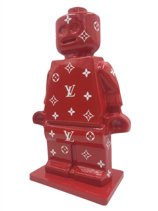 """Sculpture titled """"Alter Ego Oscar Red"""" by Alessandro Piano, Original Art, Resin"""