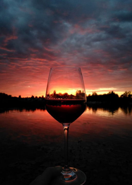 Red Wine Sky Photography By Art Of Dying Artmajeur
