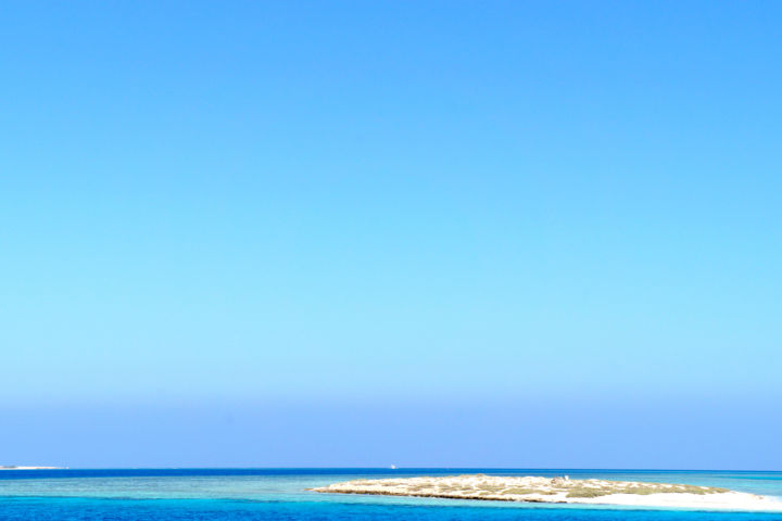 Blue and white sand - Photography ©2019 by Alexandr Zhurakovskiy -                            Landscape, blue color, sea, sky, sand, island, Egypt, Red sea
