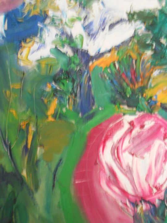 """Le chemin des Lilas"" Suisse - Painting,  5x60x50 cm ©1994 by ALEXANDRE SACHA PUTOV (1940-2008) BENEZIT -                            Abstract Expressionism, Alexander Sasha PUTOV"