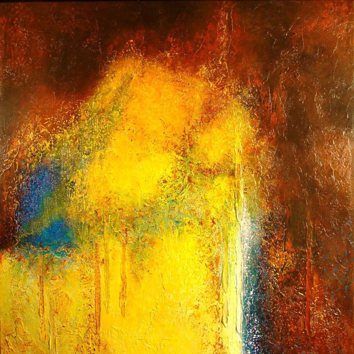 HOMMAGE A ZAO WOU KI - Painting,  31.5x31.5 in, ©2013 by Alexandre Bois -