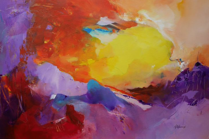 """Painting titled """"Into the Light"""" by Alexandra Ghimisi, Original Art, Acrylic"""