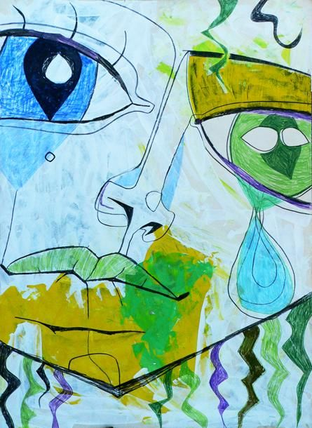 """Drawing titled """"the tear"""" by Sasha, Original Art, Other"""
