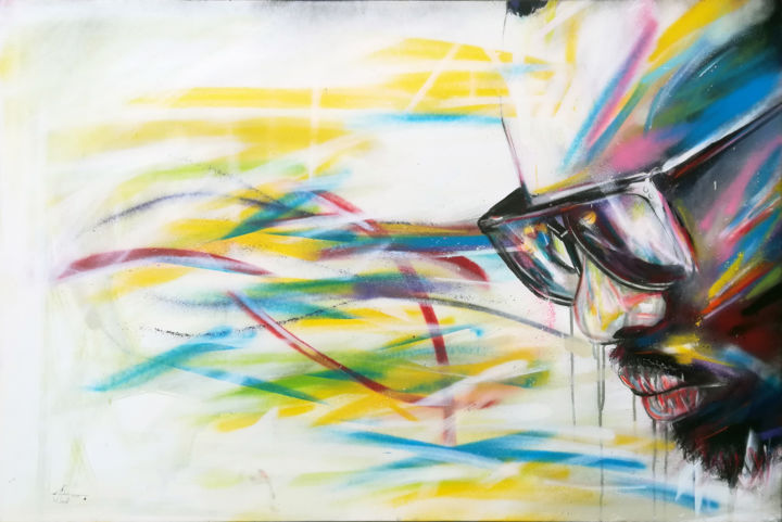Maitre Gims Painting By Alexis Chomel Artmajeur