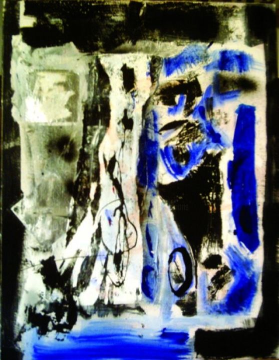 HASARD - Painting ©2013 by Alexandre Pons -                        Abstract Art