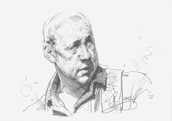 Mark Knopfler - © 2016 portrait, портрет Художественные произведения онлайн