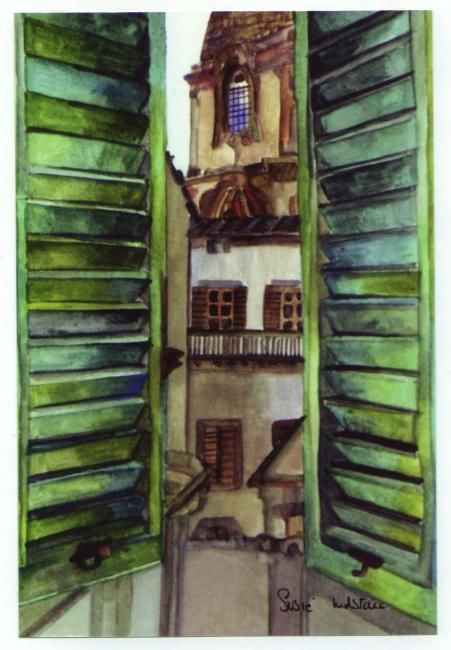 """Painting titled """"View from my bedroom"""" by Susie Lidstone, Original Art,"""