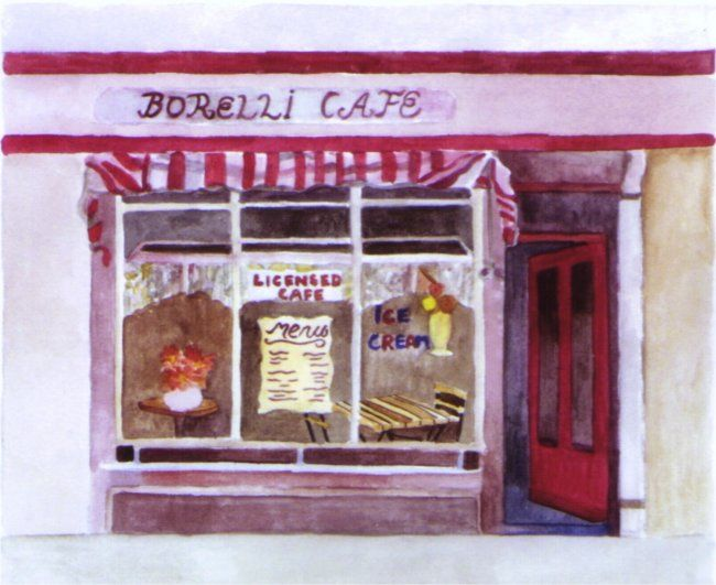 """Painting titled """"Cafe"""" by Susie Lidstone, Original Art,"""