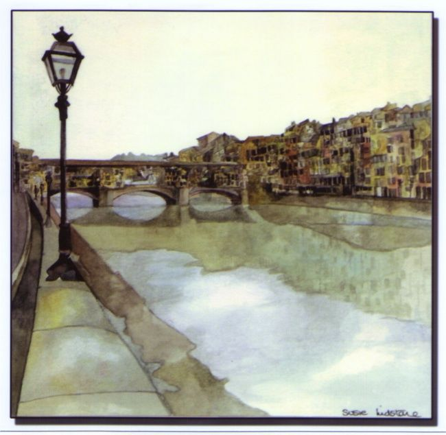 """Painting titled """"Italy"""" by Susie Lidstone, Original Art,"""