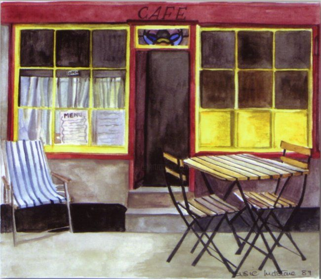 """Painting titled """"Cafe 2"""" by Susie Lidstone, Original Art,"""