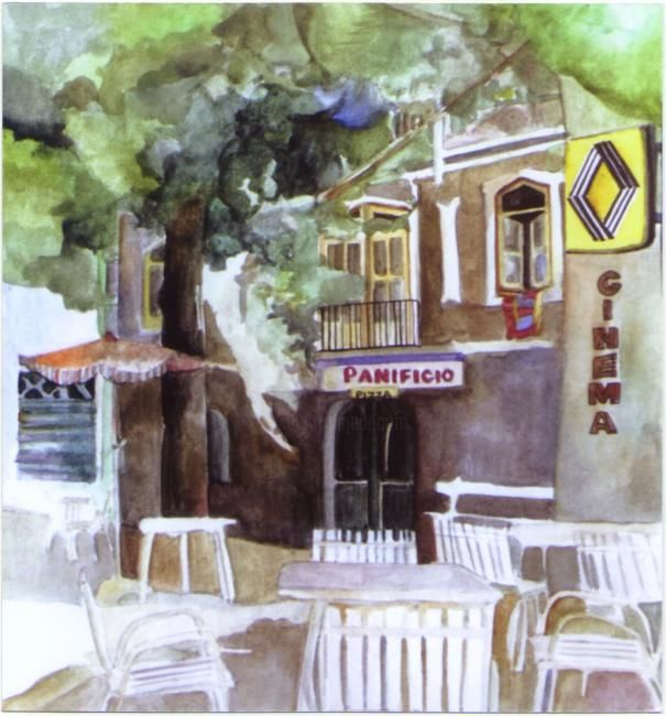 """Painting titled """"Italian Cafe"""" by Susie Lidstone, Original Art,"""