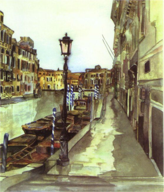 """Painting titled """"Venice"""" by Susie Lidstone, Original Art,"""