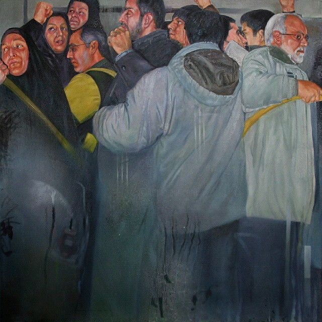 """Painting titled """"citizen can 1"""" by Ali Pirooz, Original Art, Oil"""