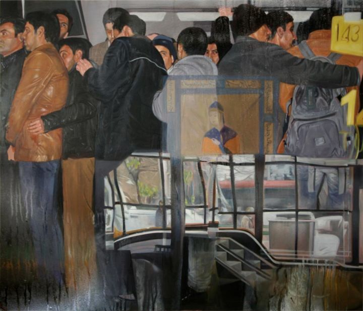 """Painting titled """"citizen can 2"""" by Ali Pirooz, Original Art, Oil"""