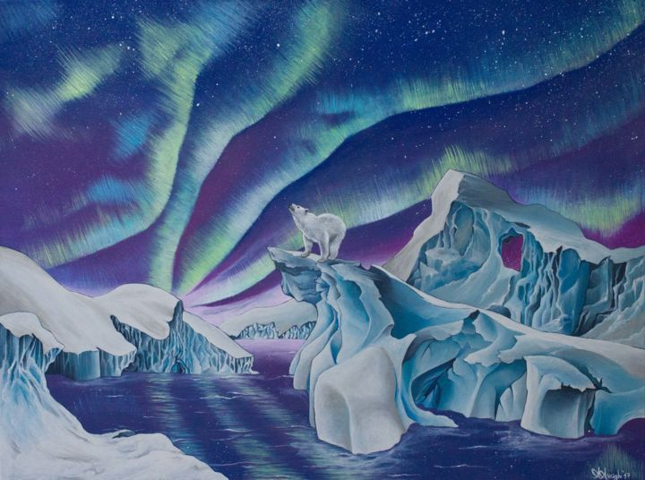 """Painting titled """"The Arctic Theatre"""" by Alice Asnaghi, Original Art, Acrylic"""