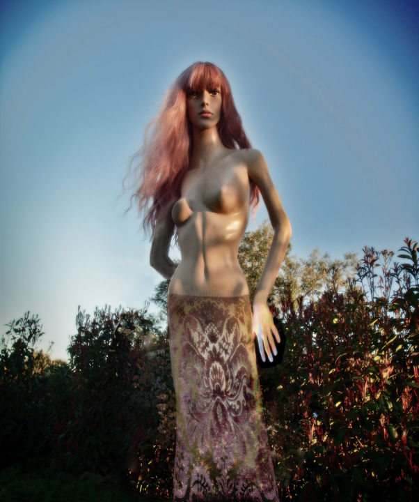 """Photography titled """"Fortuny Mary"""" by Alice Odilon, Original Art, Digital Photography"""