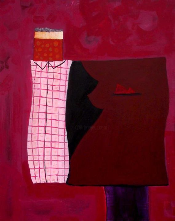 """Painting titled """"handsome standing"""" by Ali Chitsaz, Original Art,"""