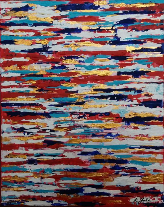 """Painting titled """"Colors on a date"""" by Alina Jalbă, Original Art, Acrylic"""