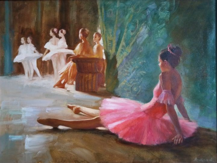 """Painting titled """"After the performan…"""" by Alina Yakhyaeva, Original Art, Oil"""