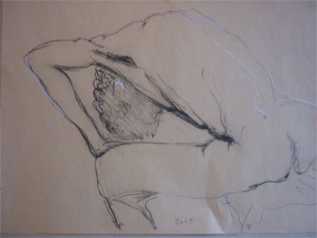 Nu masculin - Drawing,  70x50 cm ©2010 by aliona -