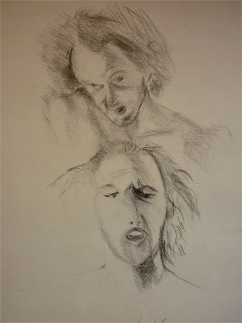 Expressions  masculines - Drawing,  50x70 cm ©2009 by aliona -
