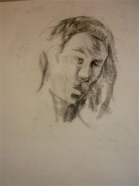 portrait homme - Drawing,  50x70 cm ©2010 by aliona -