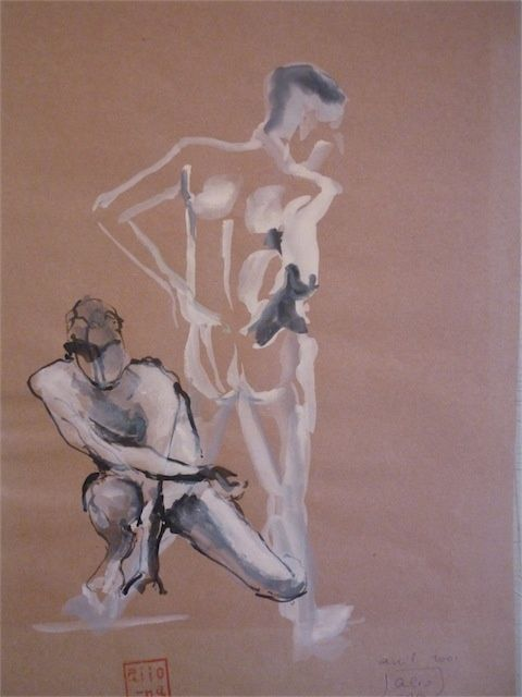 P1020269-s.JPG - Drawing,  50x70 cm ©2010 by aliona -