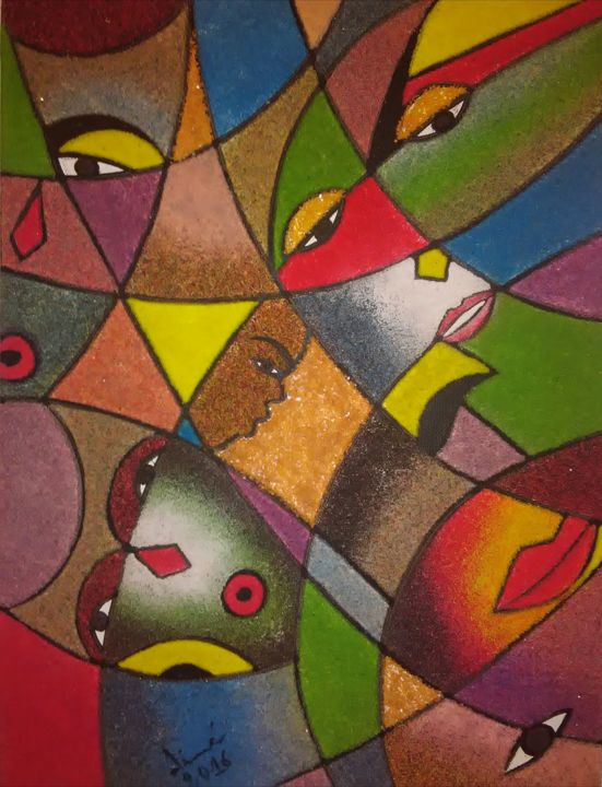 """Painting titled """"Regards"""" by Dime, Original Art,"""