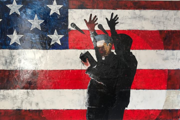 """Painting titled """"god bless america"""" by Philip Michael Martin, Original Art, Acrylic"""