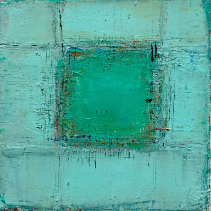 """Série """"Traverses"""" - Painting,  20x20x4 cm ©2016 by Alix Warnant -                        Abstract Art"""