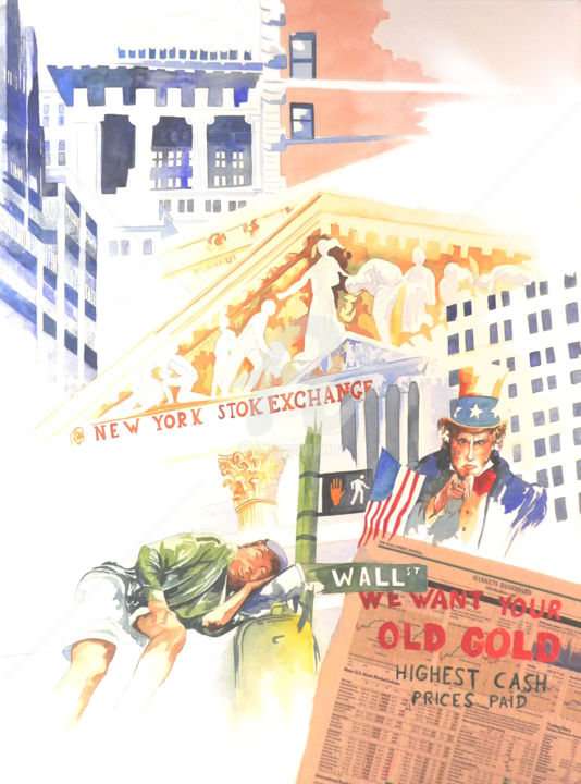 i whant your old gold - ©  manhattan, carnet de voayge, new york, wall street Online Artworks