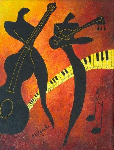 Featured Painting - New Orleans Jazz