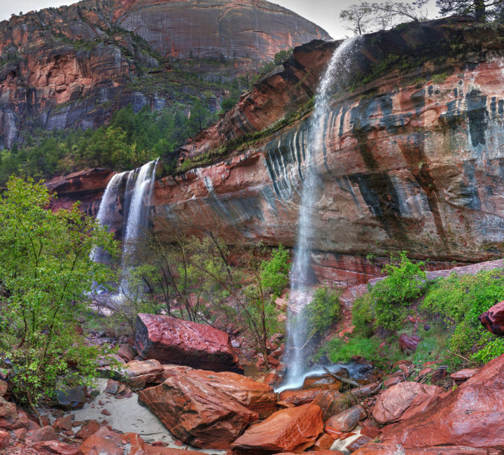 """Photography titled """"Lower Emerald Pools…"""" by Allen Ruttenberg, Original Art, Manipulated Photography"""