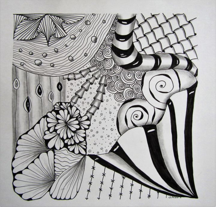 """Drawing titled """"C33"""" by Claudette Allosio, Original Art, Marker"""