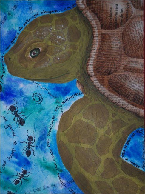 """Painting titled """"Con ganas..."""" by Alma Domínguez, Original Art,"""