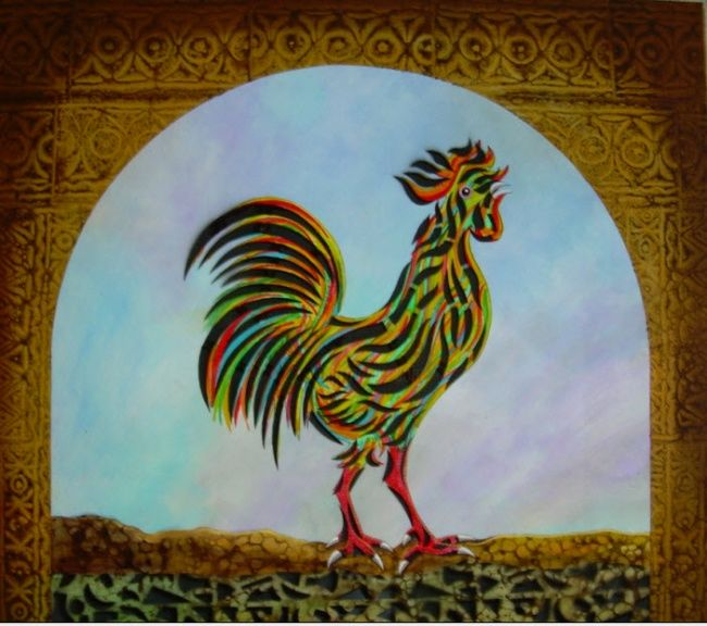 ___A_a_O________a______________1.jpg - Painting ©2009 by Mukheled Almukhtar -