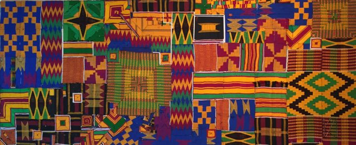 Sankofa, in search of perfection in the roots of our heritag - Textile Art,  47.2x19.7x2 in, ©2020 by Kwame Akpokavi -
