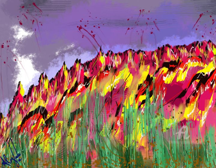 relief-of-lo-85-ke.jpg - Digital Arts ©2019 by Ahmed ALOZADE -                                                                                                                        Abstract Art, Art Nouveau, Abstract Expressionism, Modernism, Other, Abstract Art, Colors, Mountainscape, lyrical abstract, Tachism, Metaphysical Subject, Complicated Texture, Psychic State, Bright Colors, Random Imagination, Expressionist Structure, Surreal Universe, Hot Art