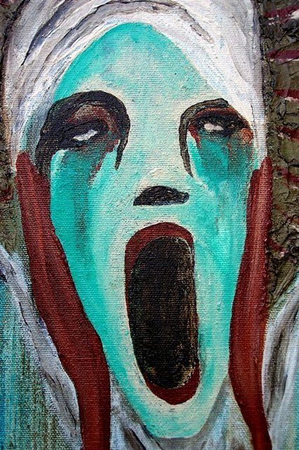 """Painting titled """"Screaming Liberty"""" by Rachel Knipp, Original Art, Oil"""