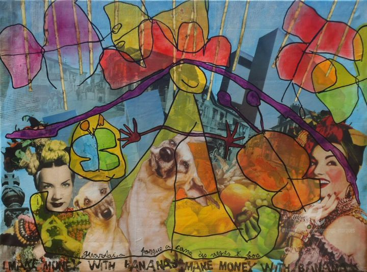 """Painting titled """"DreamWorld"""" by Alvarenga Marques, Original Art, Acrylic Mounted on Stretcher frame"""
