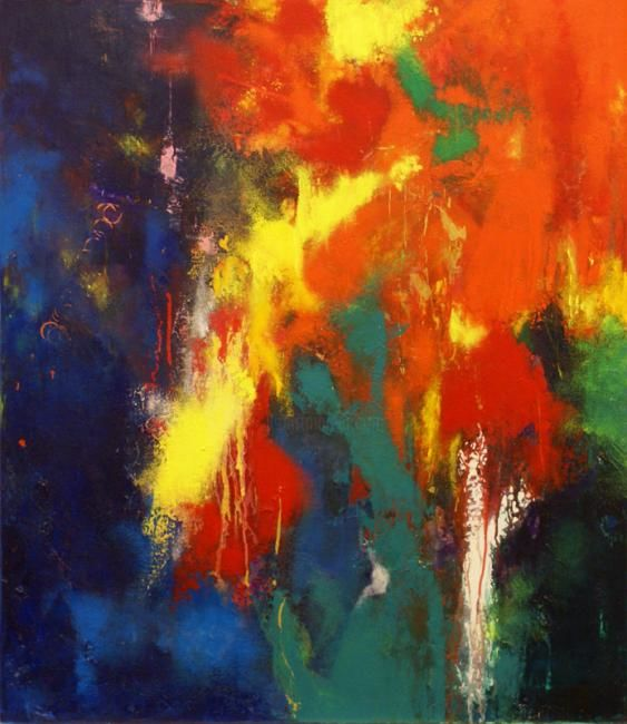 """Painting titled """"Abstract Flow"""" by Tanya Alvits, Original Art, Oil"""