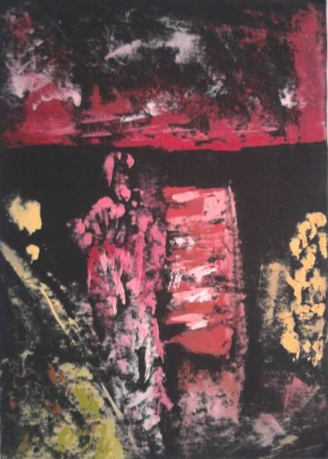 Painting,  35 x 50 cm ©2012 by Kikiloui -  Painting, Abstract Painting