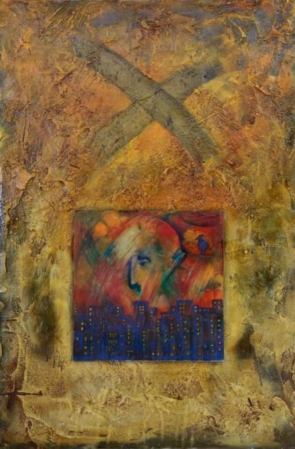 """Painting titled """"Inspiration Now and…"""" by Mila Grigoriev, Original Art, Other"""