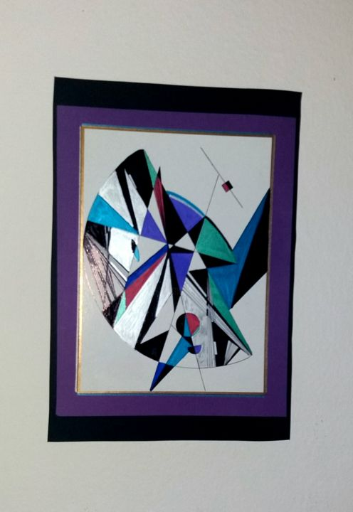 Geometric painting - ©   Online Artworks
