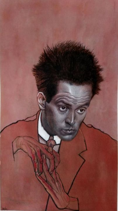 Egon Schiele - Painting,  31.5x17.7x0.8 in, ©2018 by Jan Deckx -                                                                                                                                                                                                                          Figurative, figurative-594, Other, Portraits