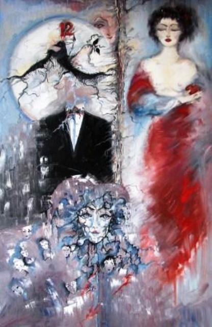 Painting,  60 x 80 cm ©2007 by ametis -  Painting, Symbolism