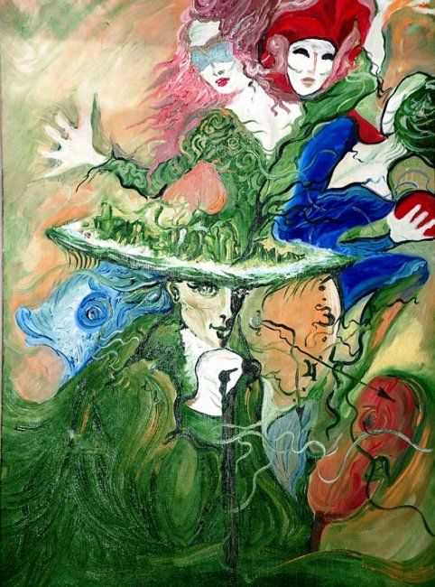 Painting,  50 x 70 cm ©2001 by ametis -  Painting, Symbolism